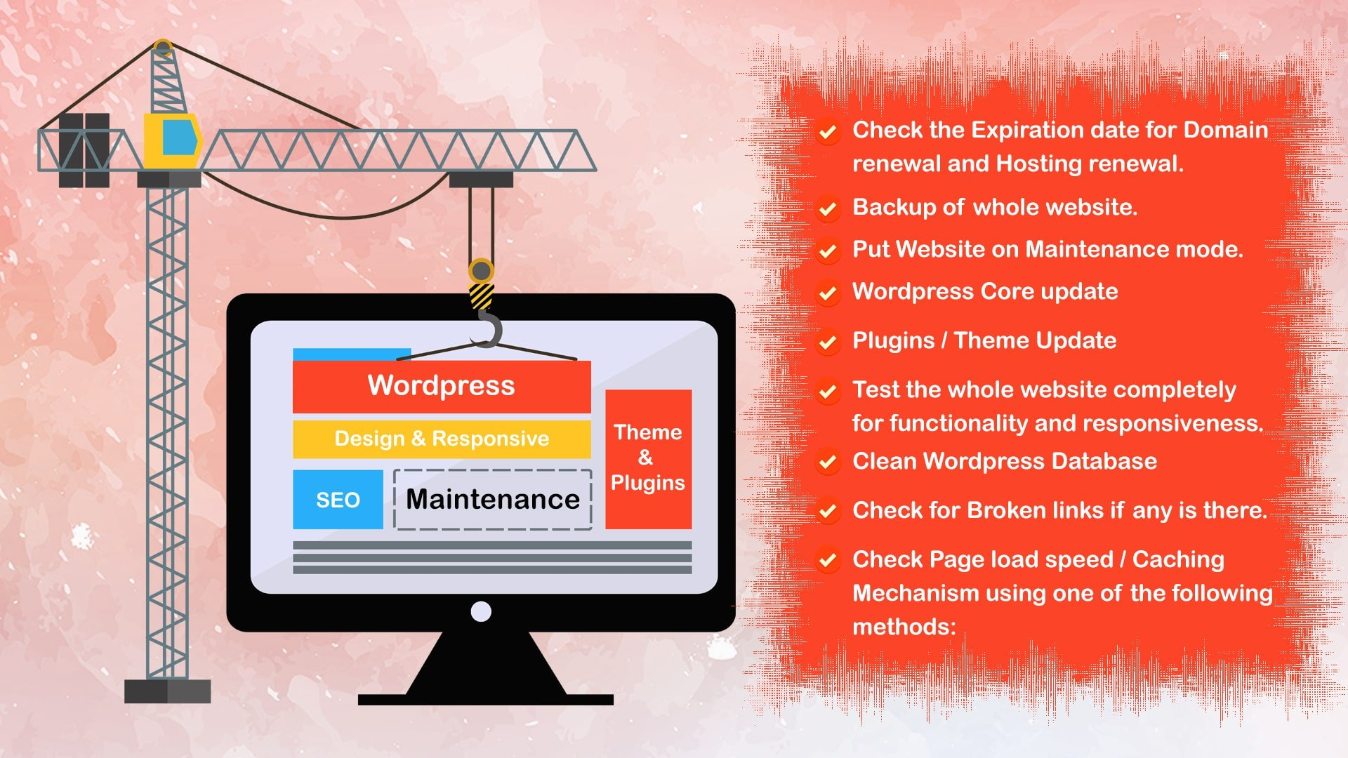 Things to take care during WordPress Maintenance